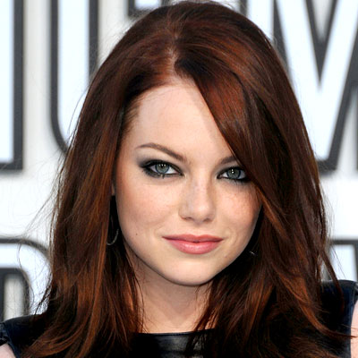 Celebrities Women on Emma Stone   S Haircolor  Read All About It    Real Hairstyles